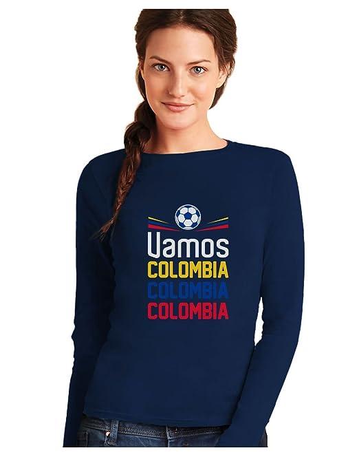 Green Turtle T-Shirts Camiseta de Manga Larga para Mujer - Apoyemos a la Selección Colombia en el Mundial!: Amazon.es: Ropa y accesorios