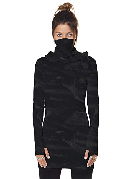 Street Habit Womens Hoodie Dress Lightweight Black Galaxy ...
