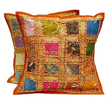 Amazon Indian Traditional Handmade Cushion Cover Decorative