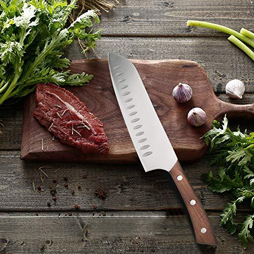 Vestaware Knife Set, 16-Piece Chef Knife Set with Wooden Block, StainlessSteel Kitchen Knives Set with Knife Sharpener, 6 Steak Knives and BonusScissors by Vestaware (Image #3)