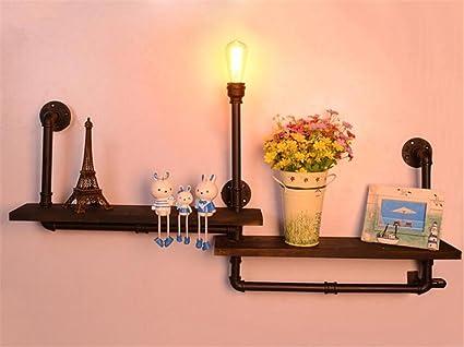 Applique murale industrielle vintage lampe murale étagère avec des