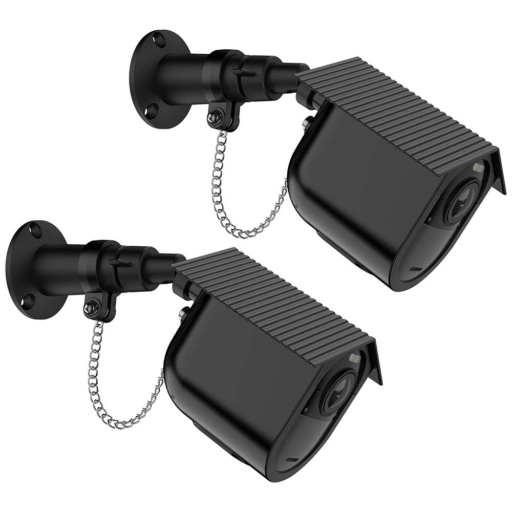 Aobelieve Outdoor Security Wall Mount with Safety Chain Lock and Weather-Resistant Birdhouse Cover for Arlo Ultra Camera (Black, 2 Pack) by Aobelieve