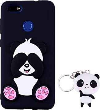 HopMore Silicone Coque pour Huawei P9 Lite Mini/Huawei Y6 Pro 2017 Souple Motif Panda 3D Design Drôle Mignonne Etui Étui Antichoc Ultra Mince Fine ...