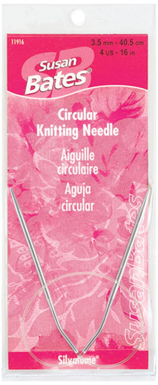 Susan Bates 16-Inch Silvalume Circular Knitting Needle, 5mm Notions - In Network 11916-8