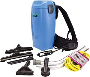 ZVac Backpack Vacuum Cleaner Commercial Grade ZBV-2 1.5 Gal. HEPA Filtration with Complete Attachment Tool Set, 50' Power Cable, Ergonomic Vacuum Cleaner Harness