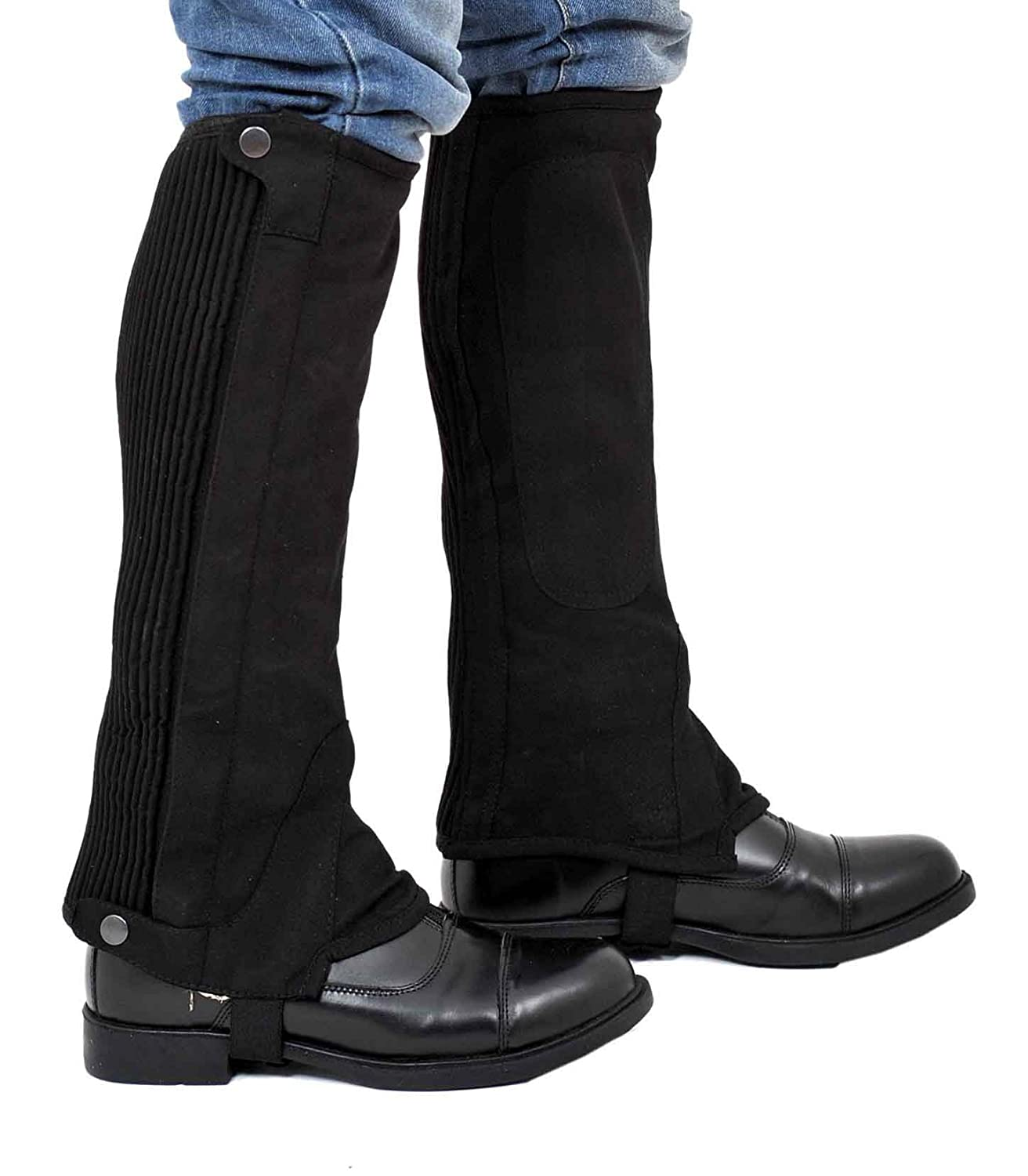 Riders Trend Washable Amara Plain Synthetic Suede Half Chaps