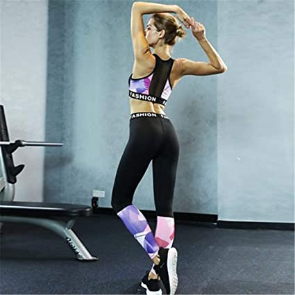 Amazon.com : Female Suit Fitness Clothing Sport Wear Yoga ...