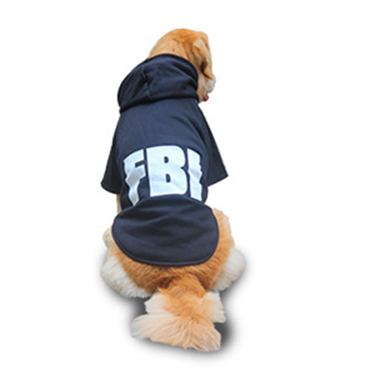 Black Medium Black Medium Big Dog Clothes Fall and Winter Clothes Medium and Large Dogs golden Retriever Husky Satsuma Clothing Thickened Pet Clothing