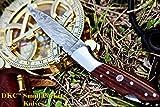 Cheap DKC Knives (12 4/18) SALE DKC-58 Little Jay Series Knives Damascus Folding Pocket Knife 4″ Folded 7″ Long 4.7oz oz High Class Looks Hand Made LJ-Series (Japanese Sheath Micarta Damascus Steel)