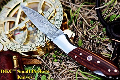 DKC Knives (12 4/18) Sale DKC-58 Little Jay Series Knives Damascus Folding Pocket Knife 4