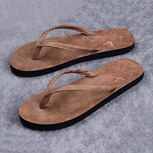 Outdoor C Soft Pantofole Grigio Uomo HUO Nero Beach Sandali Bottom Casual Da Shoes Chiaro Antiscivolo Fashion Tan cBFqIwna