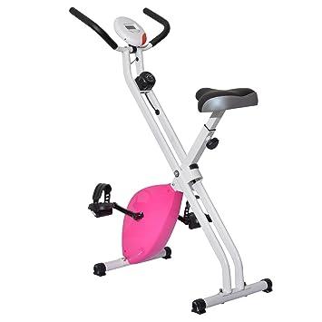 Homcom Bicicleta Estatica Spinning Fitness 8 Niveles Carga Maxima 110 Kg Pantalla Digital Temporizador Velocidad Distancia
