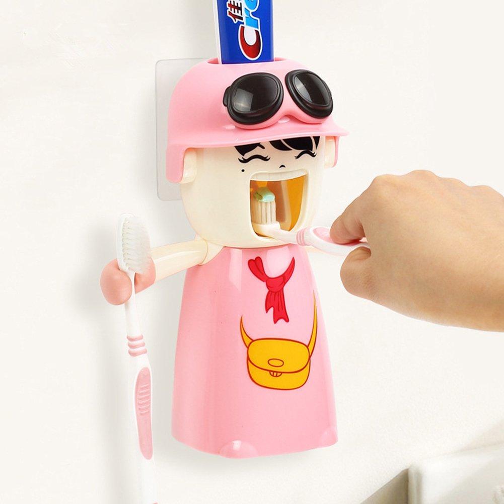 uuouu dispensador de pasta de dientes automático soporte para cepillo de dientes Creative Kids: Amazon.es: Bricolaje y herramientas