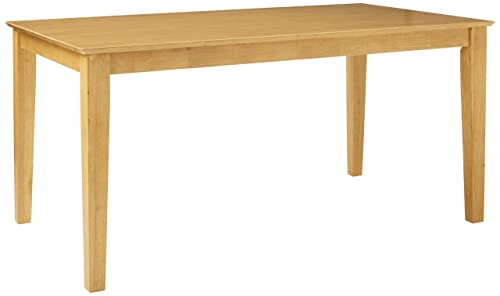 CAT-OAK-S Capri Rectangular dining table 36 x60 with solid wood top In Cappuccino Finish