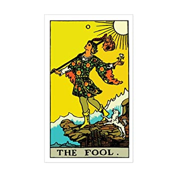 Cafepress the fool tarot card sticker rectangle rectangle bumper sticker car decal