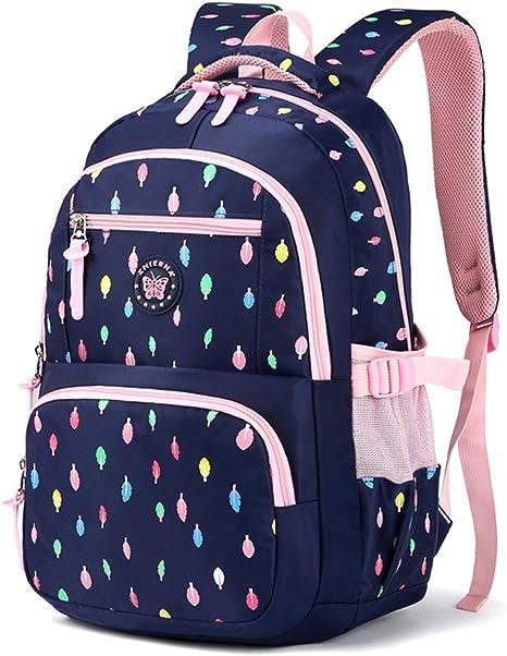 Sac /à Dos Primaire Sacs d/école Enfant Polyester Grande Capacit/é Cartable Imperm/éable Backpack Bleu Marine