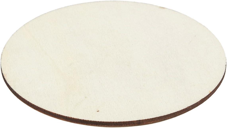 12 in, 8 pezzi cerchi in legno Juvale spessore 0,1 cm sagome in legno per artigianato