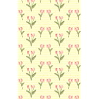 Dot Grid Journal: Vintage Pink Tulip Bouquet Flowers Yellow Pattern Illustration Cover Notebook, Bullet Dotted Grid, (5…