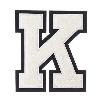 Amazon Com K White On Black 4 1 2 Inch Heat Seal Sew On