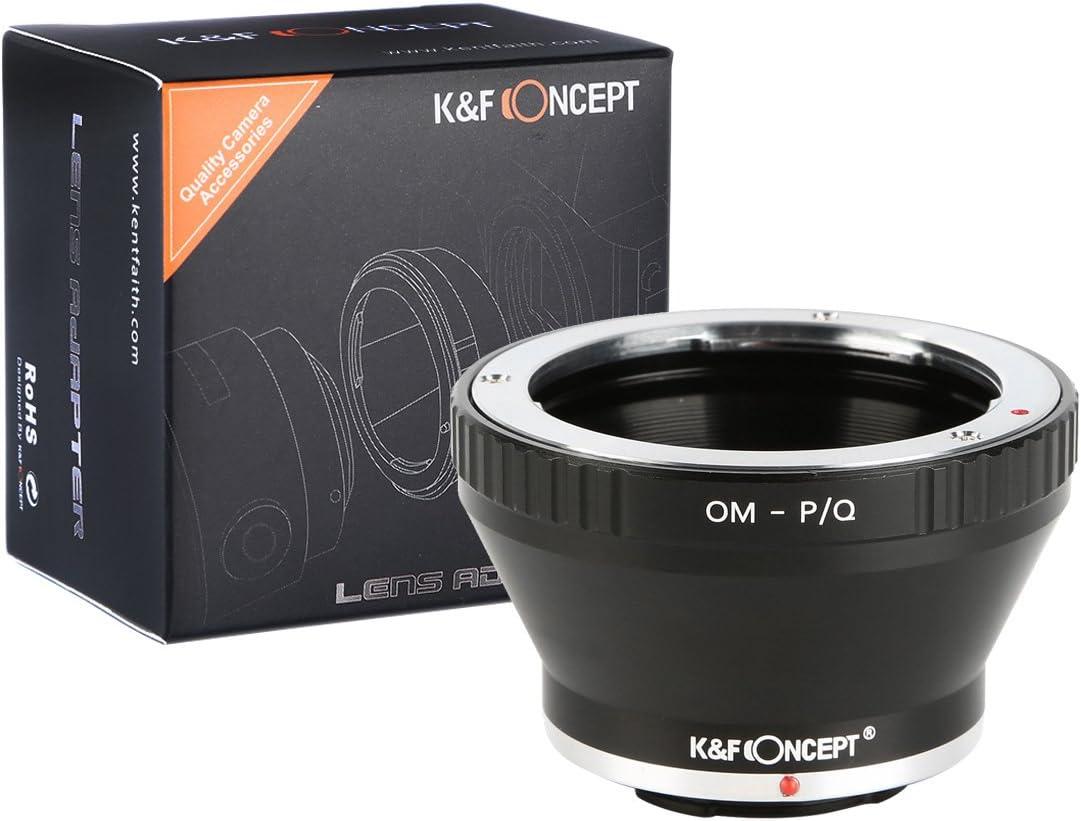K/&F Concept Lens Mount Adapter for Olympus OM Zuiko Lens to Pentax Q-S1 Q10 Q7 Q DSLR Camera Camera Body