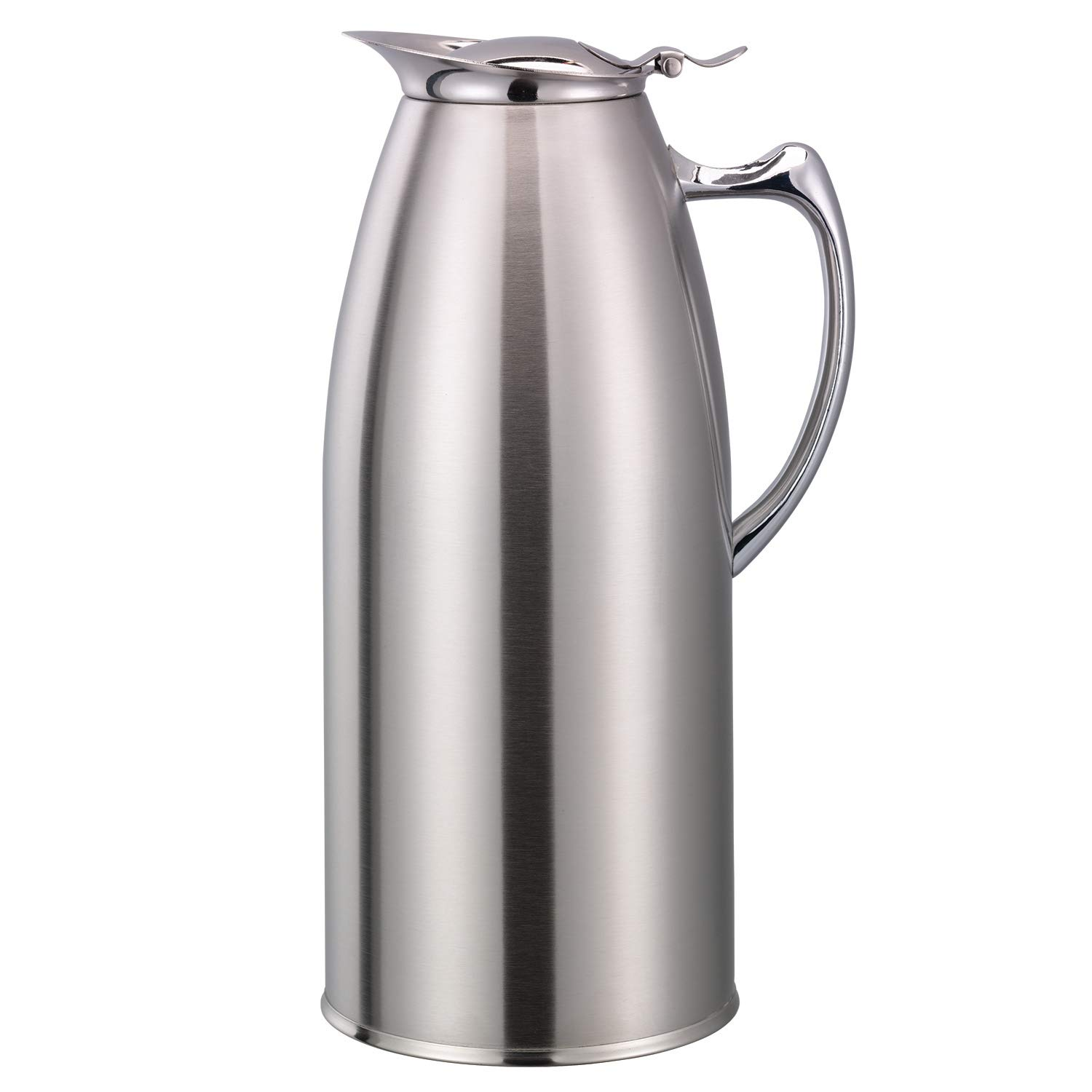 Service Ideas WP15SA Water Pitcher, Stainless Steel, Satin, 1.5L