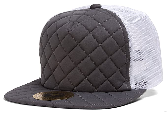0d7ac0be TOP HEADWEAR TopHeadwear Quilted Adjustable Trucker Hat - White/Gey ...