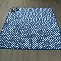 Ottomanson Studio Collection Diamonds Design Area Rug, 50 X 60, Blue