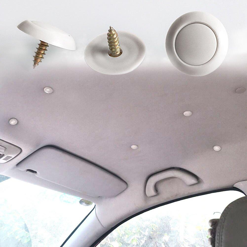 CNIKESIN 50 UNIDS Interior Auto Top Tela Vertimiento Fijo Clip y Herramientas de Tornillo de Coche Revestimiento de Techo Clip de Sujeción de Reparación ...