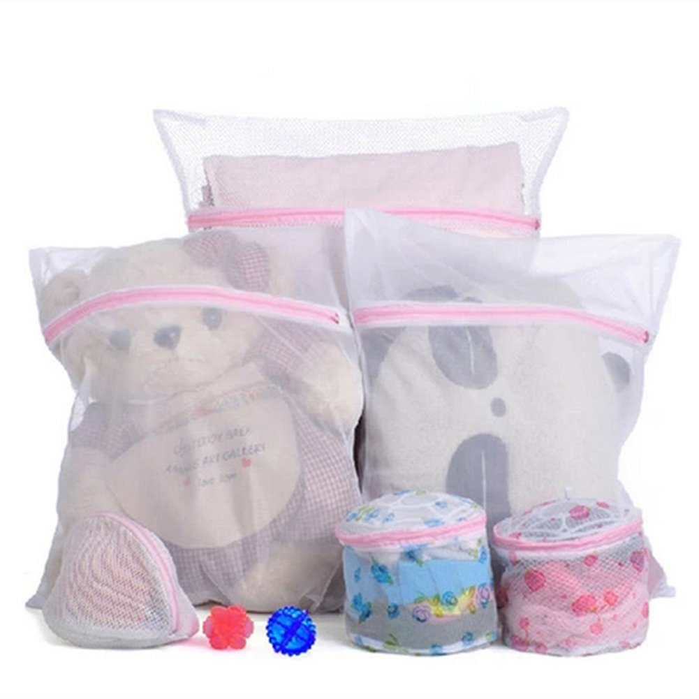 Mesh Laundry Bags With Zipper Bra Lingerie Drying Wash Bag Clothes Washing Bag (Small 30x40cm)