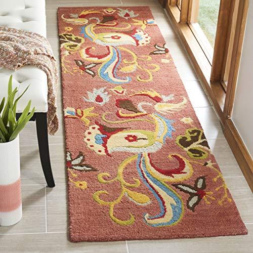 Safavieh Blossom Collection BLM680B Handmade Rust and Multi Premium Wool Runner (2'3