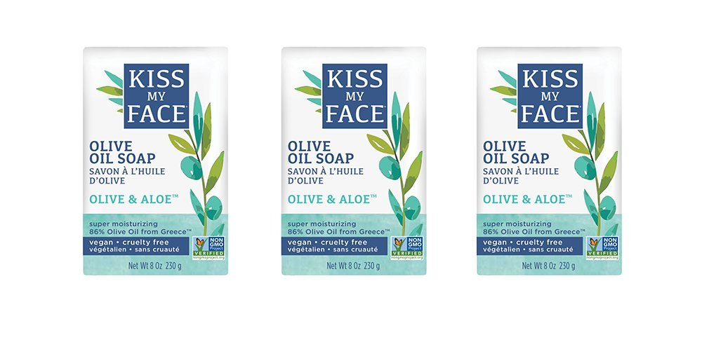 Kiss My Face Naked Pure Olive Oil Moisturizing Bar Soap, 4ounce, 3 Count 0100461