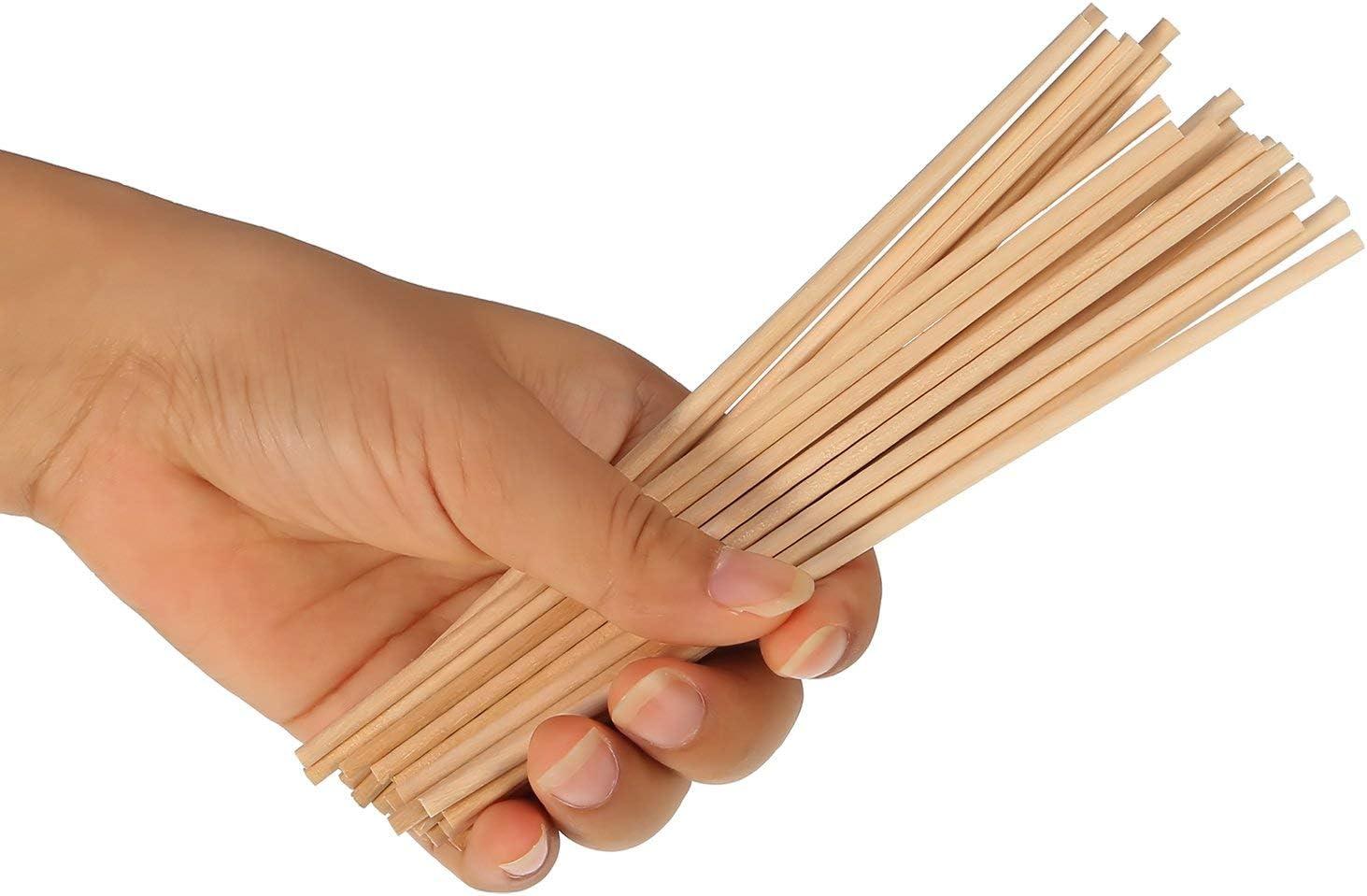 BOSSTER Holzst/äbe 100 teilige Holzst/äbchen 15 0.5cm Holzstab Bastelh/ölzer f/ür DIY Handwerk Modellprojekte Die Geb/äude Modell Kinder Lernspielzeug