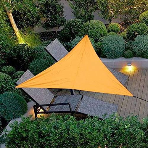 ZHANGDAN Sun Shade Sail Triangle, terraza del Patio Pergola al Aire Libre Sun Sail Shade Bloque UV Sombrilla Color Arena, Opcional, Orange-L(6m): Amazon.es: Jardín