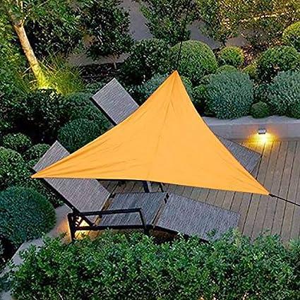 ZHANGDAN Sun Shade Sail Triangle, terraza del Patio Pergola ...