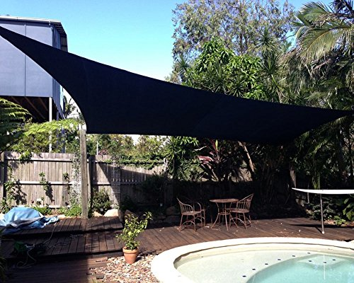 Shade&Beyond 10' x 10' Dark Green Color Square Sun Shade Sail, UV Block for Outdoor Facility and Activities