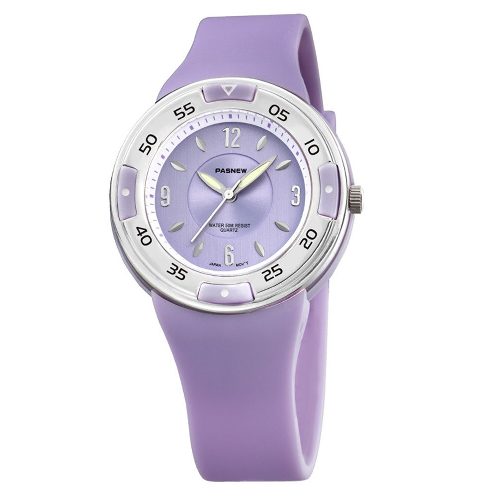 Pasnew-405 Kids Girls Watch Sports Watches Quartz Watches with Waterproof Functional Fashion Wrist Studens Watches for Children by PASNEW