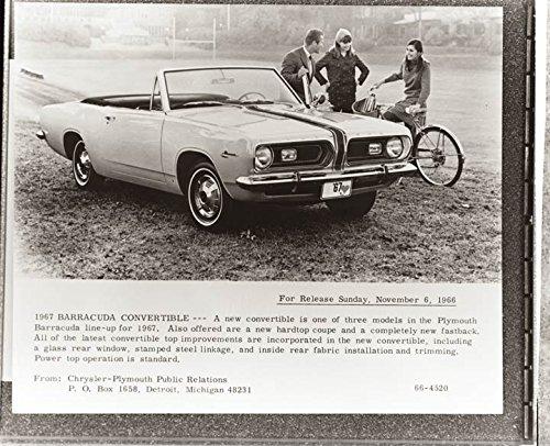 - 1967 Plymouth Barracuda Convertible Factory Photo