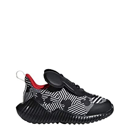 adidas Fortarun Mickey AC Shoe - Toddlers Running Core Black/Off White/Action Red