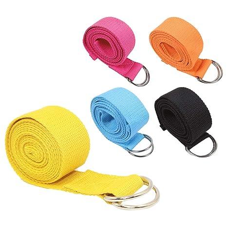 SONSYON Cinturon Yoga - Cinturón de Entrenamiento de Yoga ...