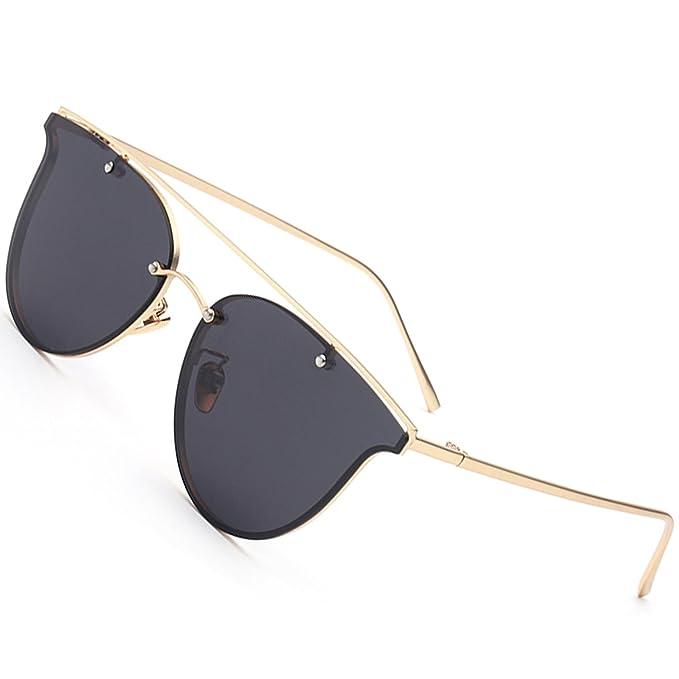 Gafas de sol polarizadas para hombre mujere Verano Playa Mujeres Hombres  Ultra Ligero Marco metálico Espejo Lente plana Gafas de sol  Amazon.es   Ropa y ... 0d1b4b020fd7