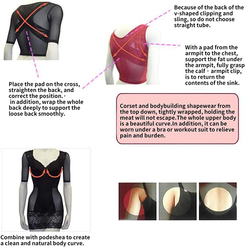 Women Upper Arm Shaper Arm Sleeves Post Surgical Compression Sleeves Slimmer Tops Posture Corrector Vest Shapewear