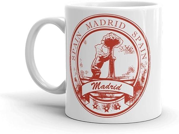 DV Mugs Ltd Taza de café y té de Madrid España 295 ml #5836: Amazon.es: Hogar