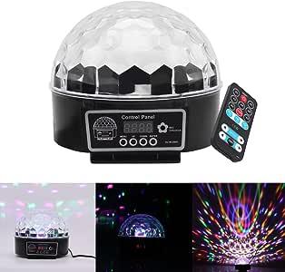 Discoteca DJ Luces de Etapa 9 Colores, AOZBZ LED RGB Mini