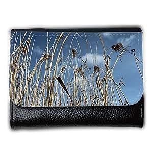 le portefeuille de grands luxe femmes avec beaucoup de compartiments // M00310886 Red Sky Teichpflanzen Naturaleza Lago // Medium Size Wallet