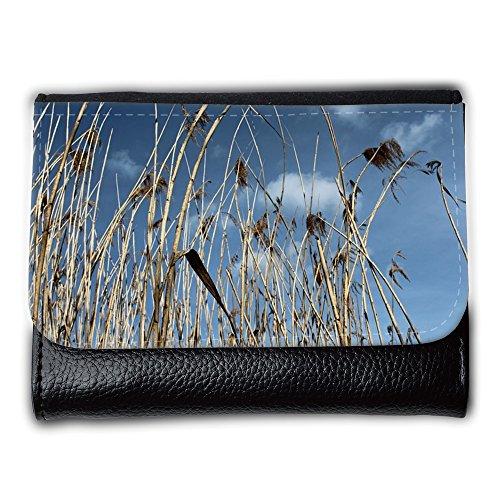 Portemonnaie Geldbörse Brieftasche // M00310886 Red Sky Teichpflanzen Natur See // Medium Size Wallet