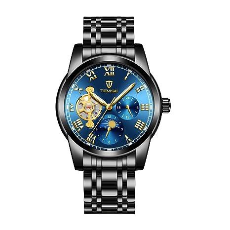 Dolity Reloj de Pulsera Automático Mecánico De Moda para Deportista Ecologico Duradero - Azul negro