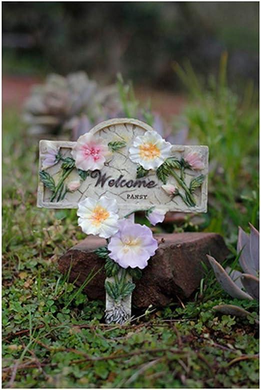 Patrón de flores de la decoración de la tarjeta, el arte de la decoración, decoración del jardín, al aire libre Patio Decoración, Jardín DécorYard ornamento del césped ornamentos partido arte del jard: