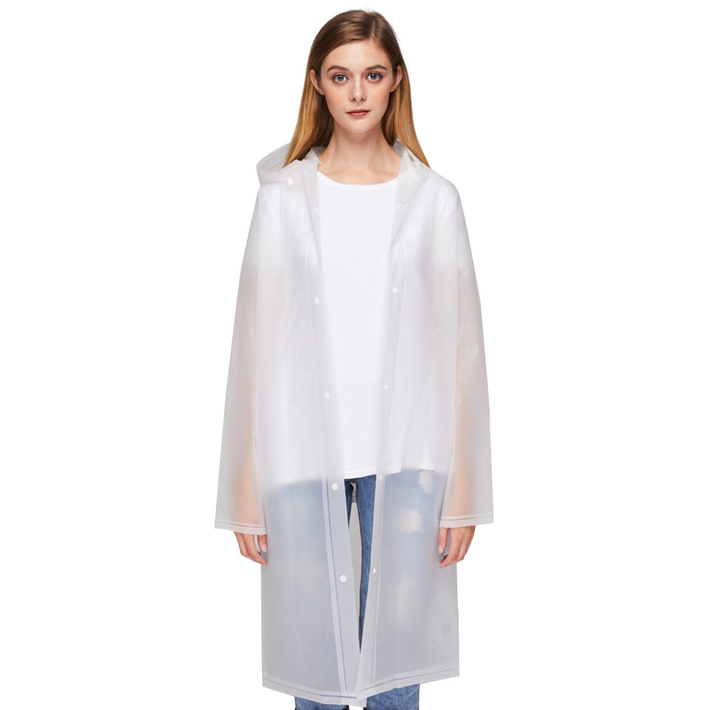 UNIQUEBELLA EVA Raincoat Waterproof Rain Poncho Reusable Unisex Men Women Long Rain Cape M by UNIQUEBELLA