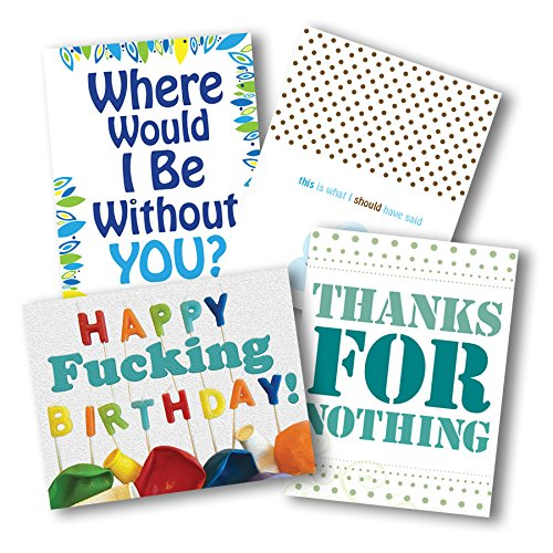 Funny Greeting Card Variety Pack. Happy Birthday. 5.5x4.25. Set of 8 Blank Cards with Envelopes. Unique Christmas Gift Idea for Him or Her. All Occasion, Valentine's Day, Just Because for Friends