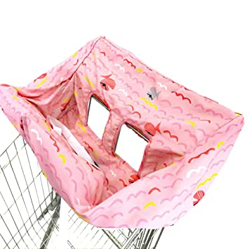 Kids Portable Shopping Cart Cover High Chair and Grocery Cart Covers for Babies Simple Blue Dot Infants /& Toddlers ✮ Includes Free Carry Bag ✮